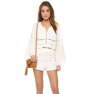 Free People Mi Corazon Top & Shorts Set - Small